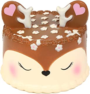 AOLIGE Squishies Slow Rising Jumbo Kawaii Cute Deer Cake Creamy Scent for Kids Party Toys Stress Reliever Toy