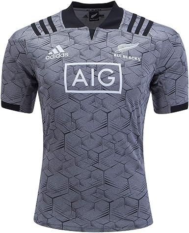 adidas All Blacks Training Rugby Jersey, Grey