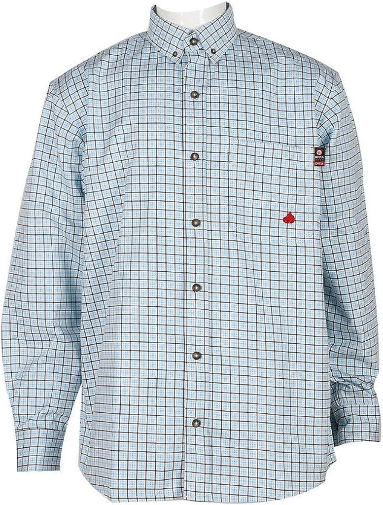 Forge FR Brand Cheap Sale List price Venue Work Shirt Mens L S Plaid MFRPLD Resistant Button Flame