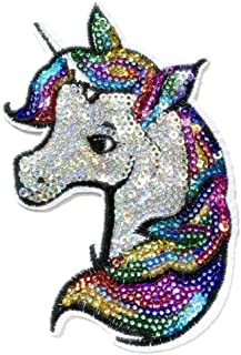 Iron on Patches#19,Unicorn Sequin Embroidered Kids Patches, DIY Badge Patches Clothing Cute Patch by BossBee