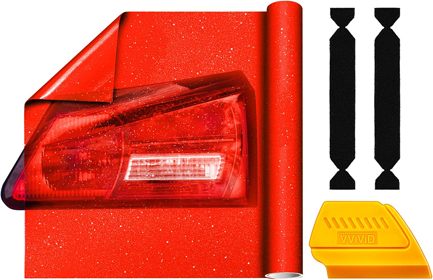 VViViD Red Crystal Tint Taillight Frosted Automotive Air-Release Max 58% OFF Popular popular