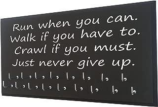 Running On The Wall Inspirational Medal Display - Run Walk Crawl - Motivational Medal Holder