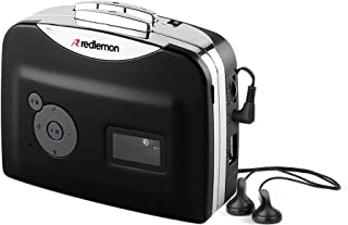 Redlemon Reproductor y Convertidor de Cassettes a MP3 vía Memoria USB, Alta Fidelidad, Tipo Walkman, con Audífonos