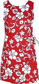 Women's Hibiscus Pareo Hawaiian Mock Wrap Sarong Dress