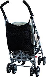 Sunnybaby 19277 - Red de seguridad para cochecito de bebé con protección visual y cierre de mordaza, color negro