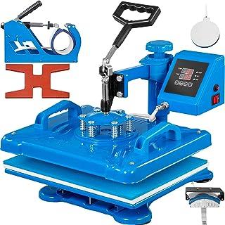 VEVOR Prensa de calor de 30,5 x 30,5 cm, máquina de prensa de calor de sublimación 5 en 1, rotación de 360 grados, prensa ...