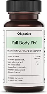 Objective - Full Body Fix Healthy Inflammatory Response - 60 Veggie Capsules (Packaging May Vary)