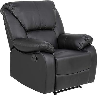 AC Design Furniture Hedvig Poltrona, Leatherette, Nero, L: 102 x W: 93.5 x H: 107 cm