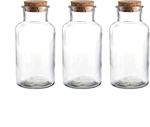 Glass Favor Jar, Glass Storage Jars with Corks for Wedding and Party (18 Ounce)