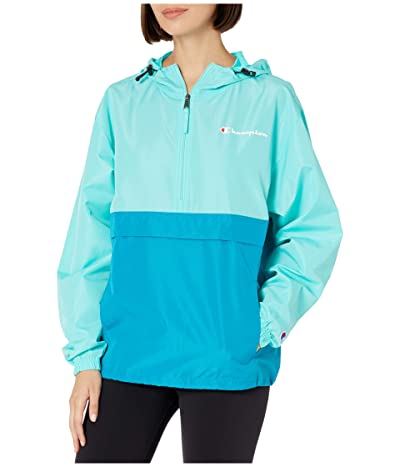 Champion Packable Jacket (Light Sea Green/Rockin Teal) Women