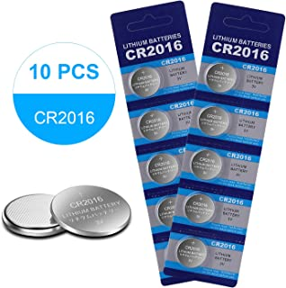 10Pack CR2016 3V Lithium Battery for Garage Door Opener/Watch/LCD Writing Tablet