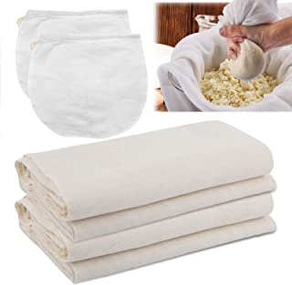 Cheesecloth 47 x 47inch, Grade 90 Cheesecloth with 2 Pack 12 Inch Cheesecloth Bags, 100% Cotton Fabric Ultra Fine Reusable...