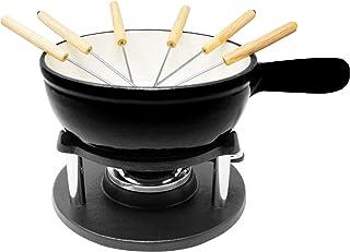 Big BBQ Support à fondue en fonte | Pour fondue au fromage fondue au chocolat fondue à la viande | 2 litres | avec réchau...