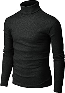 H2H Mens Casual Slim Fit Turtleneck Pullover Thermal Sweaters