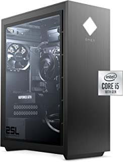 OMEN 25L by HP Gaming Desktop, Intel Core i5-10400F, NVIDIA GeForce GTX 1660 Super Graphics, HyperX 8GB RAM, 512 GB SSD, W...