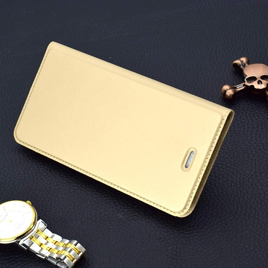 操縦する文炎上Yan iPhone 6 Plus&6s Plus用極薄プレス磁気TPU PUレザーケース、カードスロット&ホルダー付き (Color : Rose gold)