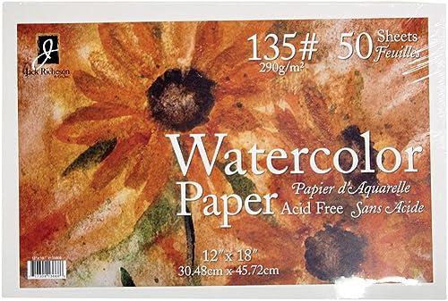 Jack Richeson 50 ück 30,5 45,7  135 WaterFarbe Papier
