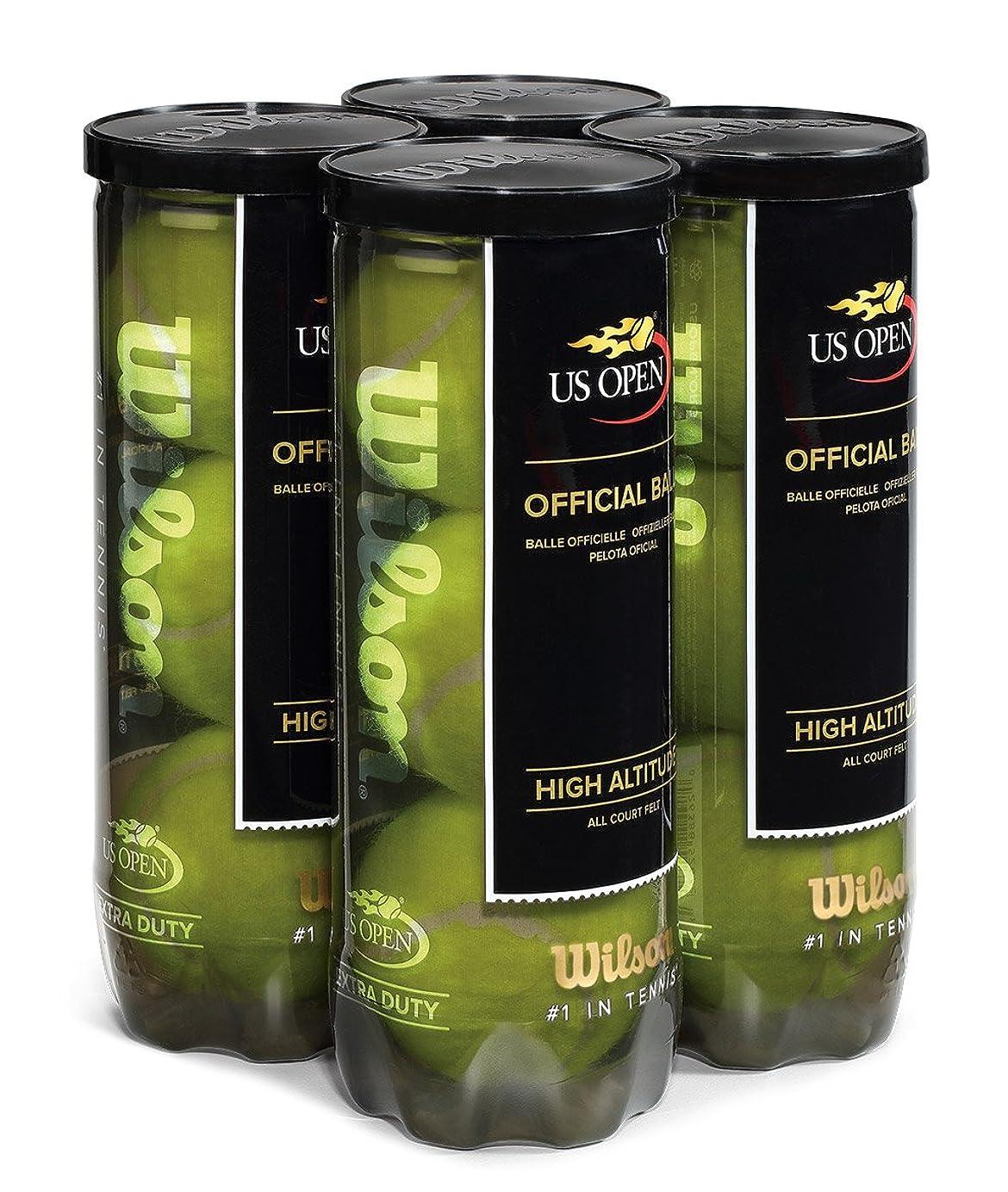 ブルーム略語粒子Wilson US Open高地テニスボール4パック、イエロー