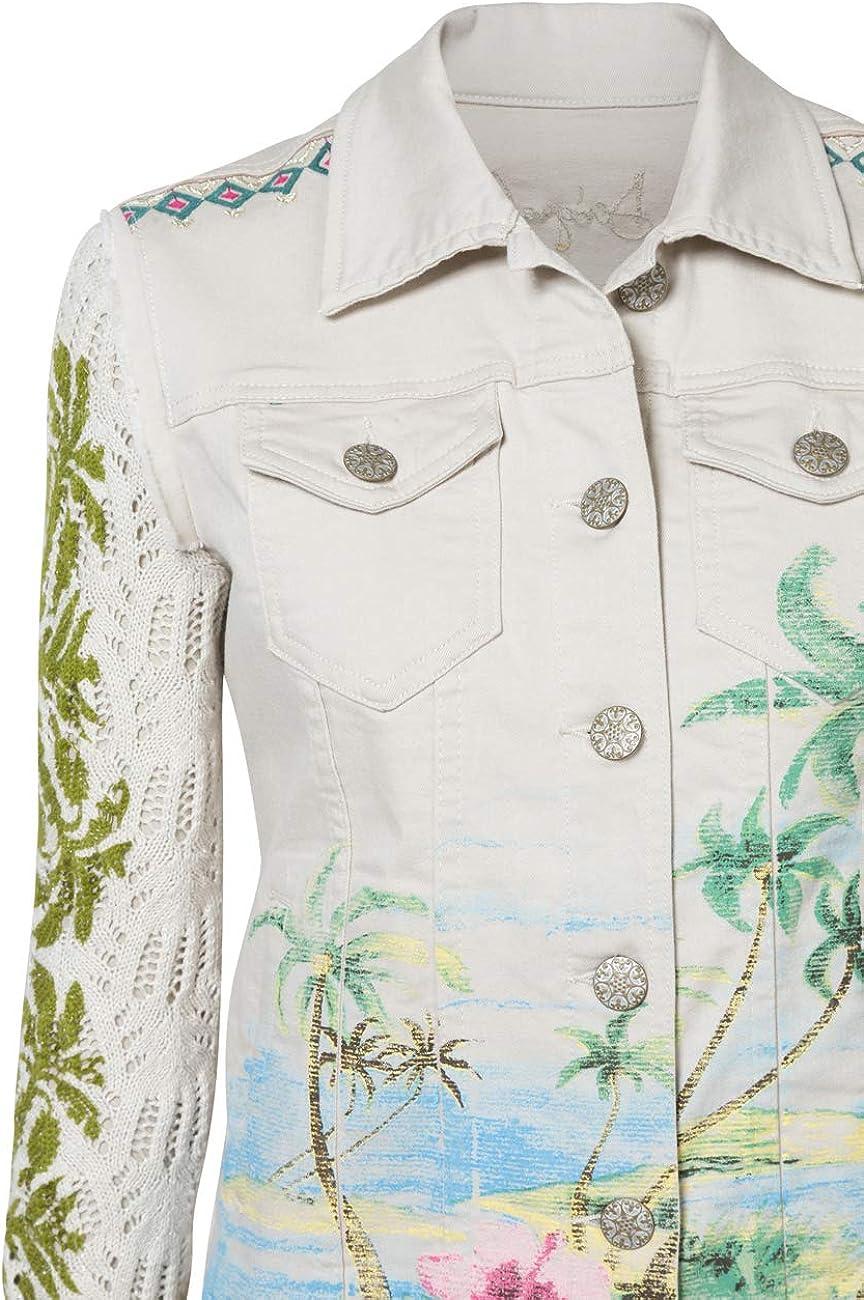 Desigual Denim Jacket Tiki White