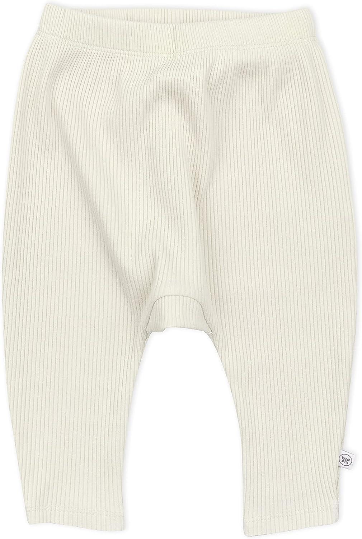 HonestBaby Baby Organic Cotton Chunky Rib Harem Pant, Sugar Swizzle, 12 Months