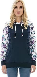 Bearsland Women's Maternity Hoodie Zipper Breastfeeding Shirt Nursing Sweatshirt with Pockets