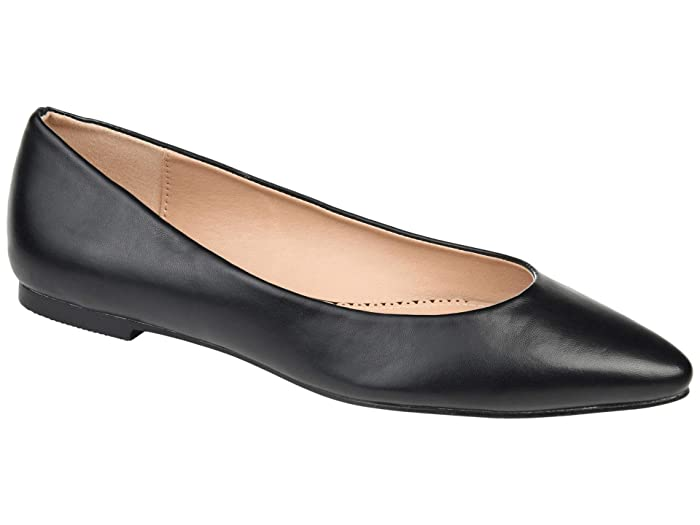 Retro Vintage Flats and Low Heel Shoes Journee Collection Moana Flat Black Womens Shoes $19.99 AT vintagedancer.com