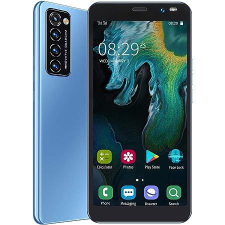 格安 スマホ本体 Rino4 Pro Android スマートフォン 本体 携帯電話 6.1インチ 大画面 1GB RAM + 8GB ROM 128GB拡張 デュアルSIM 200万画素+500万画素カメラ 2200mAhバッテリー 1 付き(青い)