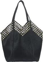 d'Orcia Annanae Rivet Top Black Handbag