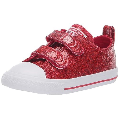 e63c3da8d34d51 Converse Kids  Chuck Taylor All Star 2v Glitter Low Top Sneaker