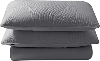 Brielle Stream Quilt and Sham Set, Twin, Light Grey