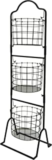 Useful. Three Tier Market Basket for Fruits and Vegetables - Stackable Three Tiered Standing Basket Perfect for Produce Display at Markets, Gas Stations, and Beyond (Oval)