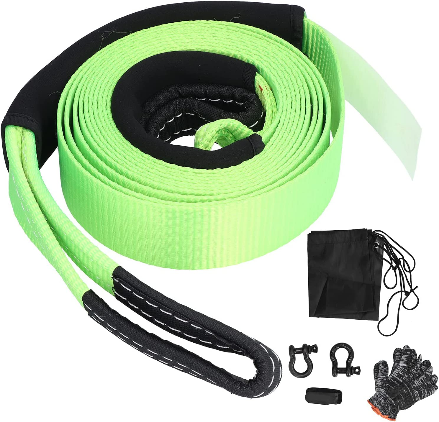 Tow Hook Las Vegas Mall shipfree Rope Off‑Road Recovery Polyester Str Pull Pulling