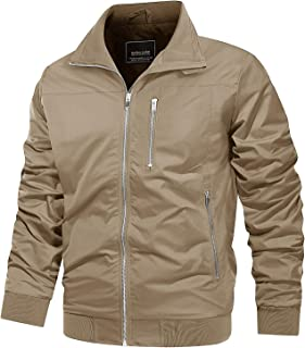 Men's Jacket Lightweight Casual Athletic Full Zipper Bomber Active Outwear Spring Fall