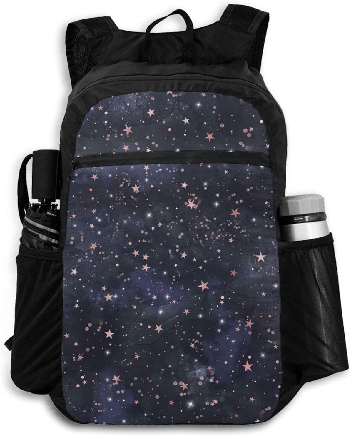 Outlet ☆ Free Shipping Zolama Blue Pink Starry Night Sky P Women Backpacks for New mail order Cute Men