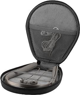Sony WI-1000X H700 C400 MDR-EX750BT XB70BT JVC HA-FX37BT Sennheiser MOMENTUM In-Ear Wireless 等ネックバンド型のヘッドセット用 保護バッグ (ブラックp)