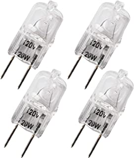 Ketofa WB36X10213 Bulbs for Halogen GE Microwave Oven G8 120V 20W Bulb Replacement WB25X10019 WB08X10050 WB36X10246(4 Packs)