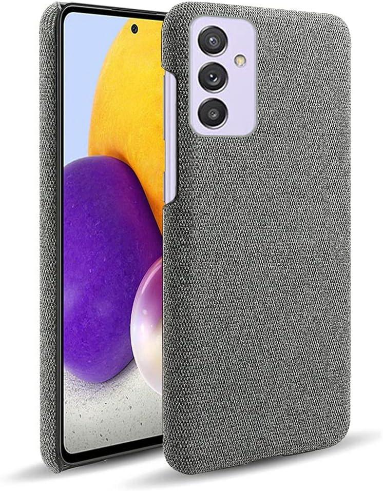 جراب SHUNDA لهاتف Samsung Galaxy Quantum 2، غطاء حماية من نسيج اللباد فائق النحافة عالي الجودة مضاد لبصمات الأصابع لهاتف Samsung Galaxy Quantum 2 6.7 بوصة - رمادي داكن