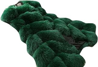 Women's Winter Warm Plus Size Waistcoat Long Faux Fur Vest Jacket