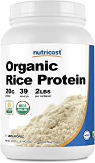 Nutricost Organic Rice Protein Powder 2LBS (Unflavored) - Certified USDA Organic, 20G of Rice Protein Per Serv, Non-GMO