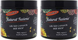 Natural Fusions Chia Seed and Argan Oil Hair Mask by Palmers for Unisex - 9.5 oz Mask - (Pack of 2)