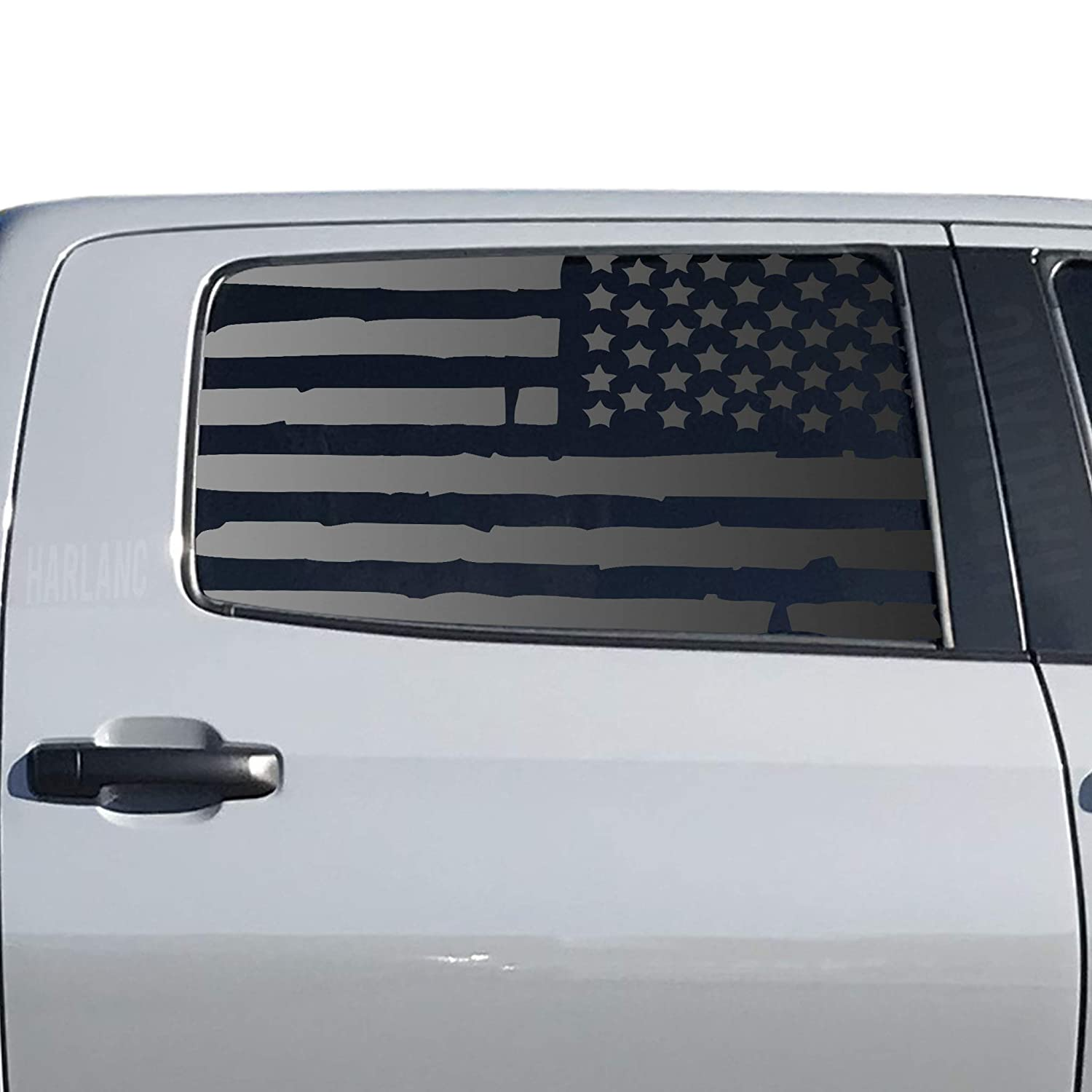 Distressed USA Flag Decals For Max 89% OFF 2014-2020 Tundra Toyota Max 62% OFF Rear Do -