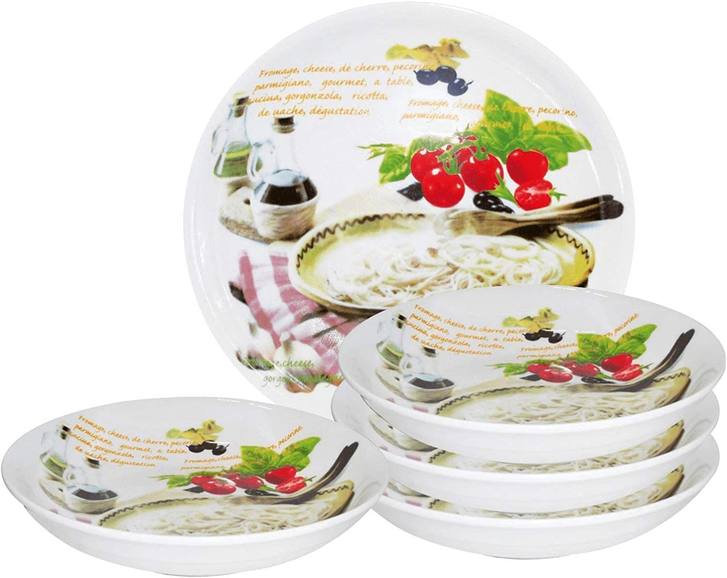 Fort Worth Mall Selling Lorren Home Trends 5 Piece Porcelain Design Mia Mamma Set Pasta