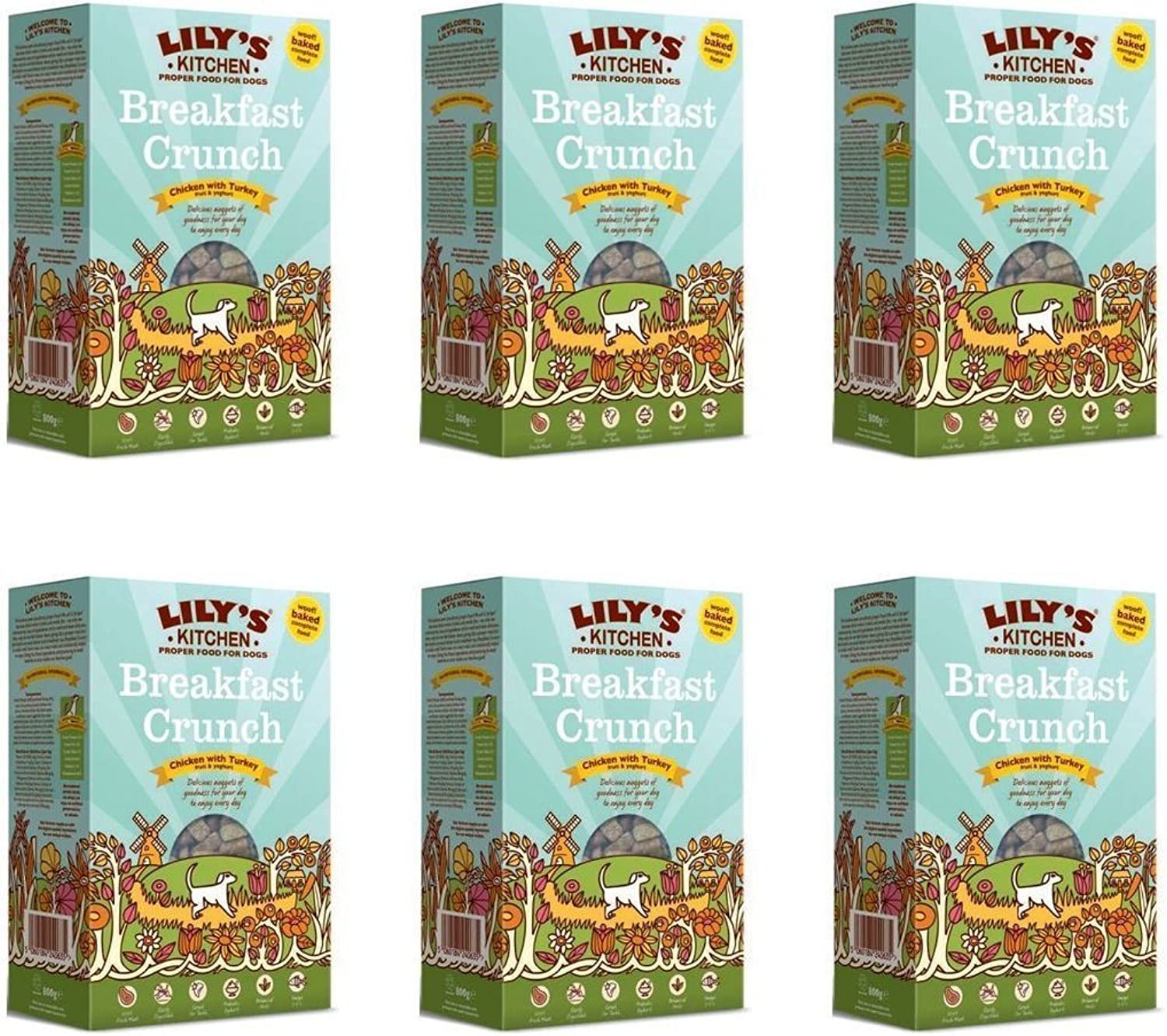 (6 PACK)  Lilys K Breakfast Crunch For Dogs   800g   6 PACK  SUPER SAVER  SAVE MONEY