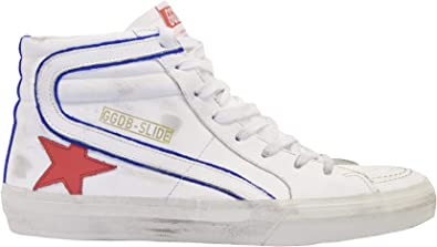 Golden Goose Sneakers Slide Bianco Rosso Blu