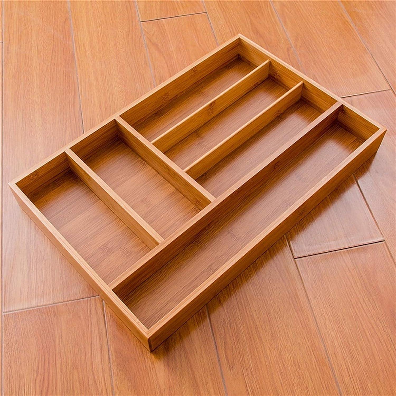 FWKTG Cubiertos Organizador de Bamb/ú Cajon de Cubertero Bandeja para Ordenar Utensilios Bandeja para Cubiertos y Multiusos Organizar Cajones de Cocina Size : 35.5x26cm