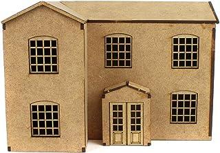 War World Scenics Scratch Aid Buildings – Large House – Railway Modelling Realistic Model Laser Cut MDF OO/HO Gauge Scale ...