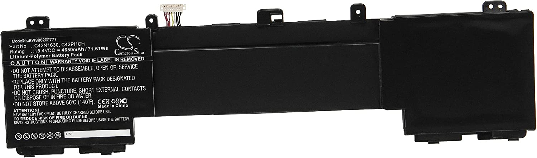 vhbw Batería Recargable Compatible con ASUS Zenbook Pro UX550VD-BN102T, Pro UX550VD-BN120T Notebook (4650 mAh, 15,4 V, polímero de Litio)