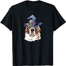 Saint Bernard Witch Hat Dog Lovers Halloween Gift T-Shirt