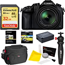 Panasonic Lumix DMC-FZ1000 4K QFHD/HD 16X Long Zoom Digital Camera (Black) + Panasonic 16 GB UH3 SD Card + Camera Bag + Camera Cleaning Kit