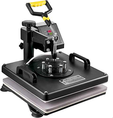 high quality Mophorn Heat Press 15x15 wholesale Inch Heat Press Machine outlet online sale 5 in 1 Multifunctional Sublimation Dual LED Display Heat Press Machine for t Shirts Swing Away Design online sale
